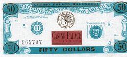 CASINO PALACE BUCHAREST  50 DOLLARS -UNC - Banknoten