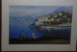 Petit Calendrier De Poche 2000 Illustration Naïve Des Frères Bonnec Chien Lac ... - Association Officiers Marine Brest - Calendari