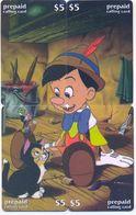 Disney $5 LDPC,  4 Prepaid Calling Cards, PROBABLY FAKE, # Fd-34 - Disney