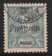 MACAO - N°125 Obl (1902) PROVISORIO - Macao