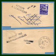 Bande Journal Clacy Et Thierret ( Aisne 02 ) Type B7 1962 / Préo 119 > Retour Envoyeur Journaux - Periódicos