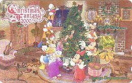 JAPAN MINT - TC JAPON NEUVE Dorée OR / 110-212029 - DISNEY NOEL CHRISTMAS FANTASY 2000 - DISNEYLAND GOLD Phonecard - Disney
