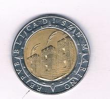 500 LIRE 1992 SAN MARINO /5245/ - Saint-Marin