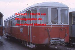 Reproduction D'une Photographie D'un Train A.O.M.C Aigle-Ollon-Monthey-Champery En Suisse En 1968 - Reproductions