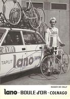 CARTE CYCLISME ROGER DE CNIJF TEAM LANO BOULE D'OR 1979 - Wielrennen
