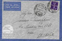 Cachet Militaire Nº 155 Sur Lettre Vers Cibali (Catania) 1942. Voir 2 Scan - Correo Militar (PM)