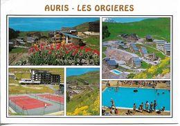 CPM. 38.AURIS. LES ORGIERES. 5 VUES (TENNIS, PISCINE...). - Otros Municipios