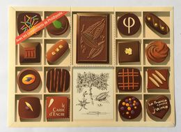 """Vignette """"Le Carré D'Encre 2009"""" - Le Chocolat - Année : 2009 - Dimensions : 143 X 105 Mm – Kr1lot - 1999-2009 Viñetas De Franqueo Illustradas"""