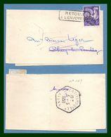 Bande Journal Chery Les Pouilly ( Aisne 02 ) Type Agence Postale / Préo 109 > Retour Envoyeur Journaux - Periódicos