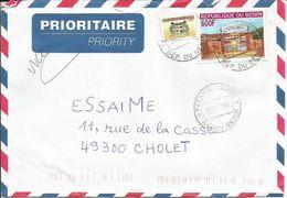 BENIN Enveloppe Avec Timbres N° Y&T 1032 - 1222   (N°53) - Bénin – Dahomey (1960-...)