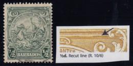 "Barbados, SG 248a, Used ""Recut Line"" Variety - Barbados (...-1966)"