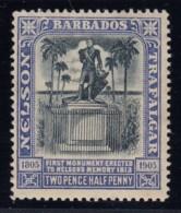 Barbados, SG 162a (Sc 112a), MHR (slightly Brownish Og) - Indigo Shade - Barbados (...-1966)