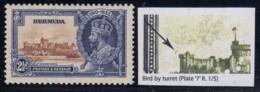 "Bermuda, SG 96m, MHR (small Pencil On Gum) ""Bird By Turret"" Variety - Bermudes"