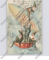 ZWERGE / Gnome / Dwarfs / Nani - Zeppelin, Jahreszahl 1909 - Cartes Postales