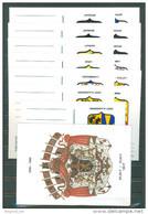 BELGIUM - 1980 - ENTIER POSTAL MNH/*** - 13 PROVINCES PROVINCIES - COB BK15-BK27 -   Lot 21703 - Stamped Stationery