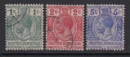 British Honduras, Sc 85-87 (SG 111-113), Used - British Honduras (...-1970)