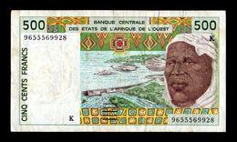 West African St. Senegal 500 Francs 1996 Pick 710Kf BC+ F+ - Sénégal