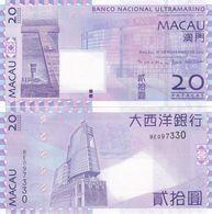 Macao Macau - 20 Patacas 2013 UNC BNU P. 81c Lemberg-Zp - Macau