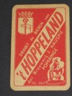 Oude Speelkaart BIEREN 't HOPPELAND Brouwerij HAUSPIE - POPERINGE - Cartes à Jouer