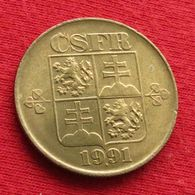 Czechoslovakia 1 Koruna 1991 KM# 151 *V1 Tchecoslovaquie Checoslovaquia Cecoslovacchia - Checoslovaquia