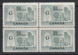 Canada, Sc O38a (SG O201a), MNH Block Of Four - Officials
