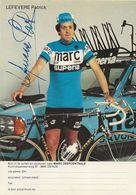 PHOTO CYCLISME PATRICK LEFEVERE SIGNEE TEAM TEAM MARC SUPERIA 1979 - Wielrennen