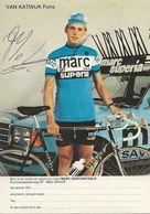 PHOTO CYCLISME FONS VAN KATWIJK SIGNEE TEAM TEAM MARC SUPERIA 1979 - Wielrennen