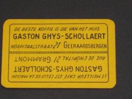 Oude Speelkaart KOFFIE CAFE Gaston GHYS SCHOLLAERT Geeraardsbergen Geraardsbergen Grammont - Cartes à Jouer