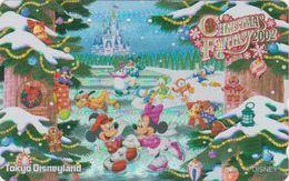 JAPAN  - TC JAPON Dorée OR / MF-1001418 - DISNEY NOEL CHRISTMAS FANTASY 2002 - DISNEYLAND GOLD Phonecard - Disney