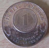 Allemagne / Deutschland - Médaille 1 Pfennig En Cuivre 1990 Deutschland Einig Vaterland / Künftige Währung Der DDR - Professionnels/De Société
