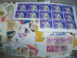 1 KG Italien Italy Briefmarken Kiloware Auf Einlagigem Papier - Sellos