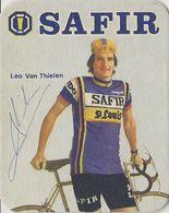 POSTES EN VERRE  JAN ALING SIGNEE TEAM SAFIR 1979 FORMAT 8 X 10 - Cyclisme