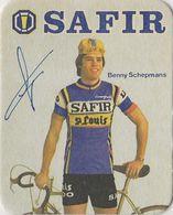 POSTES EN VERRE BENNY SCHEPMANS SIGNEE TEAM SAFIR 1979 FORMAT 8 X 10 - Cyclisme