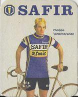 POSTES EN VERRE PHILIPPE VANDENBRANDEN TEAM SAFIR 1979 FORMAT 8 X 10 - Cyclisme