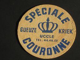Oud Viltje GUEUZE KRIEK Brasserie COURONNE UCCLE Ukkel (recto-verso) - Beer Mats