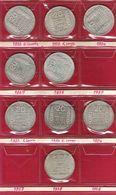 Lot De 9 Pièces 20 Francs Argent Turin Dont 1937 - France