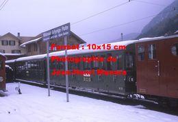 Reproduction Photographie D'un Train BOB Willderswil-Schynige-Platte Du Chemin De Fer à Crémaillère En Suisse En 1970 - Reproductions