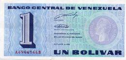 VENEZUELA 1 BOLIVAR 1989 P-68  UNC - Venezuela