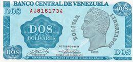 VENEZUELA 2 BOLIVARES  1989 P-69  UNC - Venezuela