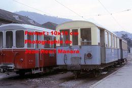 Reproduction D'une Photographie De Trains A.O.M.C Aigle-Ollon-Monthey-Champery En Suisse En 1968 - Reproductions