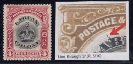 "Labuan, SG 120c, MLH ""Line Through B"" Variety - North Borneo (...-1963)"