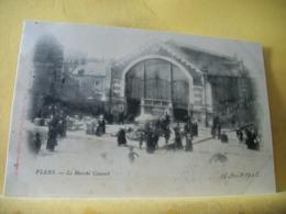 61 9546 CPA 1902 - 61 FLERS. LE MARCHE COUVERT - ANIMATION - Flers