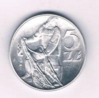 5 ZLOTYCH 1974  POLEN /5275/ - Pologne