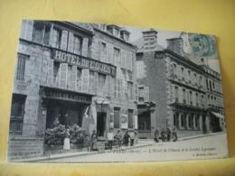 61 9554 CPA 1906 - 61 FLERS. L'HOTEL DE L'OUEST ET LE CREDIT LYONNAIS - ANIMATION - Flers