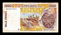 West African St. Senegal 1000 Francs 1996 Pick 711Kf BC+ F+ - Senegal