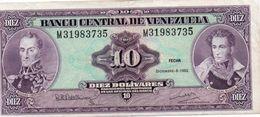 VENEZUELA 10 BOLIVARES  1992 P-61c  Circ Xf++ - Venezuela