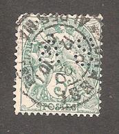 Perforé/perfin/lochung France No 111 AS Correspond Au No 174 (Albert Schmit) Mais Oblitéré à Grasse - France