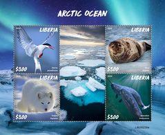 LIBERIA 2020 - Arctic Ocean, Narwhal. Official Issue [LIB200230a] - Ballenas