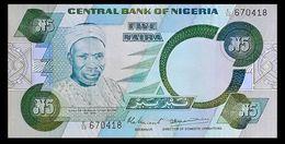 # # # Seltene Banknote Nigeria 5 Naira # # # - Niger