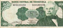 VENEZUELA 20 BOLIVARES 1989 P-63b   Vf+ - Venezuela